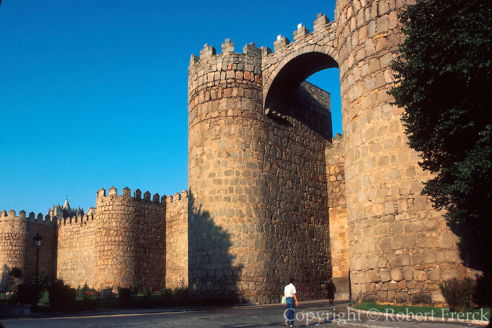 SPAIN, CASTILE, AVILA World Heritage medieval walled city