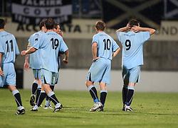 Falkirk players at the end.<br /> Vaduz 2 v 0 Falkirk FC at the Rheinpark Stadium for their Europa League second-round qualifier against Vaduz in Liechtenstein.<br /> ©2009 Michael Schofield. All Rights Reserved.
