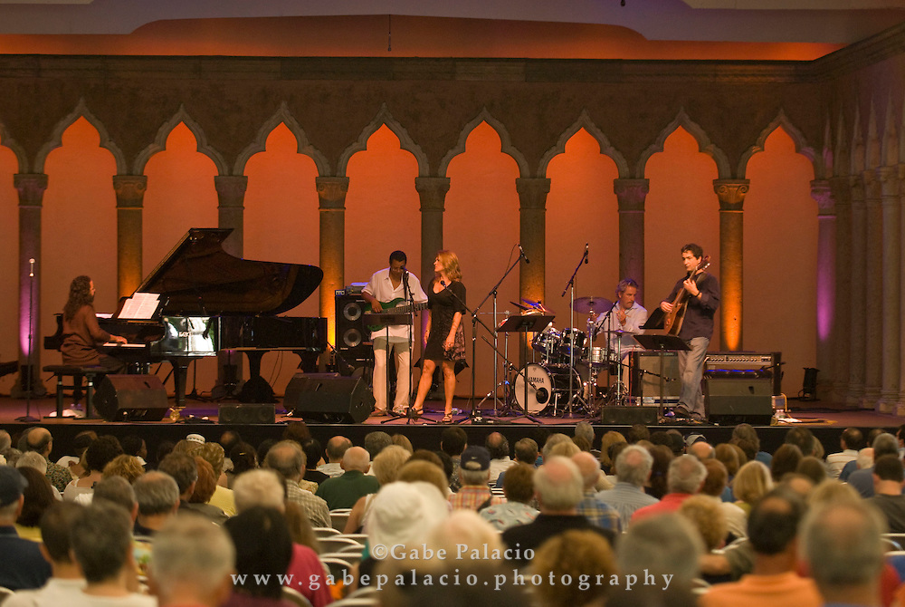 50 Years of Bossa Nova by The Claudia Villela Quintet featuring Ricardo Peixoto perfomace in Jazz Festival II in the Venetian Theater at Caramoor  in Katonah, New York on Friday, Aug 1, 2008.