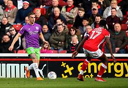Joe Bryan of Bristol City takes on Andy Yiadom of Barnsley - Mandatory by-line: Robbie Stephenson/JMP - 30/03/2018 - FOOTBALL - Oakwell Stadium - Barnsley, England - Barnsley v Bristol City - Sky Bet Championship