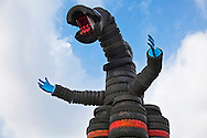 "Nishi Rokugo Koen in Tokyo is affectionately known as Tire Park or ""Taiya Koen"" made of up used recycled tires of every size in the shape of robots, dragons, swings, bridges, tunnels and mountains. Approximately 3,000 old tires were used to make  the playground, popular with local neighbors and visitors from other parks of Tokyo for its sheer novelty."