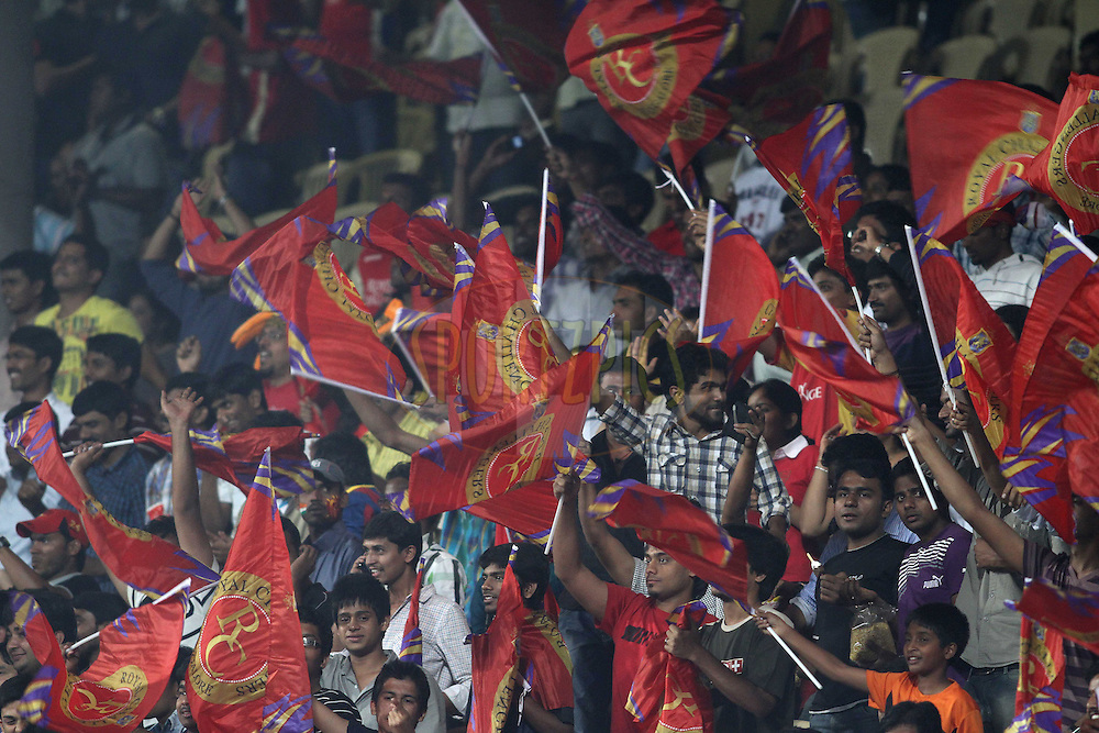 Fans during match 1 of the NOKIA Champions League T20 ( CLT20 )between the Royal Challengers Bangalore and the Warriors held at the  M.Chinnaswamy Stadium in Bangalore , Karnataka, India on the 23rd September 2011..Photo by Shaun Roy/BCCI/SPORTZPICS