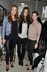 Left to right, ALEX MEYERS, KIM JOHNSON and TIGGY BURKEMAN at a lunch hosted by Roger Vivier held at Bella Pollen's home, 5 Stanley Crescent , London on 29th January 2013.