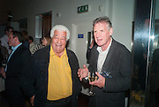 ANTONIO CARLUCCIO; MICHAEL PALIN, Launch party for the publication of Antonio Carluccio's memoirs, A Recipe for Life, . Carluccio's in Covent Garden Garrick St. London.  26 September 2012