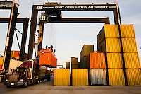 Cargo moves through the Port of Houston Dec. 26, 2012 in Houston.
