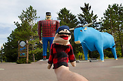 Footographs at Paul Bunyan and Blue statues in Bemidji, Minnesota on US Route 2..©Rich Frishman.ALL RIGHTS RESERVED.http://www.richfrishman.com
