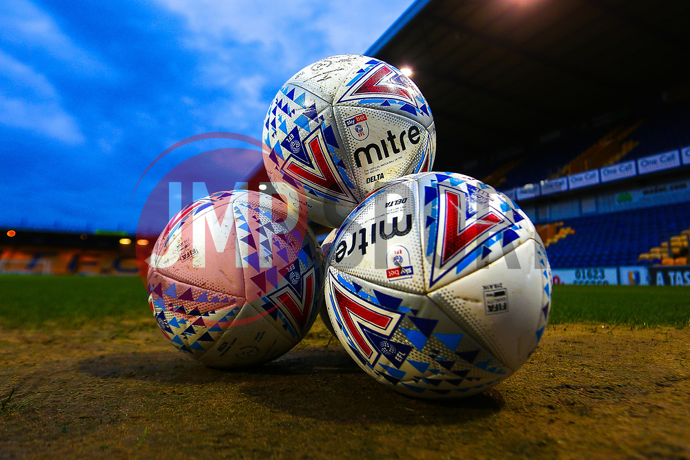 Mitre EFL League Two match balls - Mandatory by-line: Ryan Crockett/JMP - 18/03/2019 - FOOTBALL - One Call Stadium - Mansfield, England - Mansfield Town v Lincoln City - Sky Bet League Two
