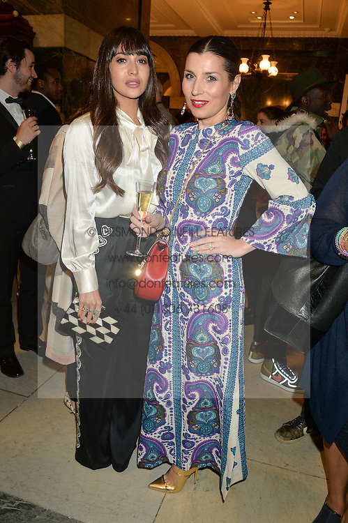 Left to right, ZARA MARTIN and GRACE WOODWARD at the LDNY Fashion Show and WIE Award Gala sponsored by Maserati held at The Goldsmith's Hall, Foster Lane, City of London on 27th April 2015.