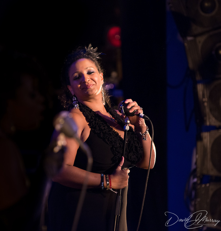 """Singer """"Lady Creole"""" performs with Vaud and the Villains at The Music Hall in Portsmouth, NH. July 2012."""