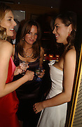 Kim Hersov, Emily Oppenheimer and Jessica de Rothschild. charles Finch and Chanel 6th Anniversary Pre-Bafta party to celebratew A Great Year of Film and Fashion Beyond the Red Carpet at Annabel's. Berkeley Sq. London W1. 18 February 2006. ONE TIME USE ONLY - DO NOT ARCHIVE  © Copyright Photograph by Dafydd Jones 66 Stockwell Park Rd. London SW9 0DA Tel 020 7733 0108 www.dafjones.com