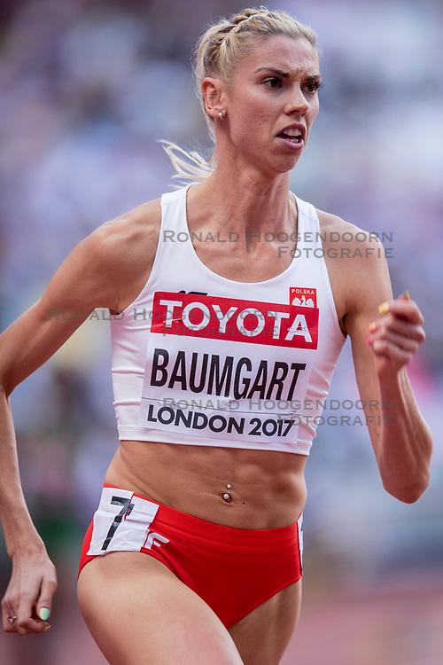 06-08-2017 IAAF World Championships Athletics day 3, London<br /> Iga Baumgart POL 400m