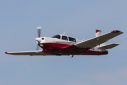 Mooney M20K (registration N1164G) takes off from Palo Alto Airport (KPAO), Palo Alto, California, United States of America