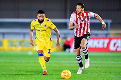 Alex Jakubiak of Bristol Rovers is marked by Aaron Martin of Exeter City  - Mandatory by-line: Ryan Hiscott/JMP - 13/11/2018 - FOOTBALL - St James Park - Exeter, England - Exeter City v Bristol Rovers - Checkatrade Trophy