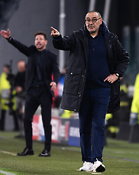 TURIN, Nov. 27, 2019  FC Juventus' head coach Marizio Sarri gestures during the UEFA Champions League Group D match between FC Juventus and Atletico Madrid in Turin, Italy, Nov. 26, 2019. (Photo by Federico Tardito/Xinhua) (Credit Image: © Cheng Tingting/Xinhua via ZUMA Wire)