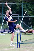 Olly Stone during the England training session ahead of the 4th ODI, at Pallekele International Cricket Stadium, Pallekele, Sri Lanka on 19 October 2018.