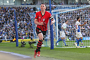 GOAL - Southampton midfielder Pierre-Emile Hojbjerg (23) celebrates during the Premier League match between Brighton and Hove Albion and Southampton at the American Express Community Stadium, Brighton and Hove, England on 30 March 2019.