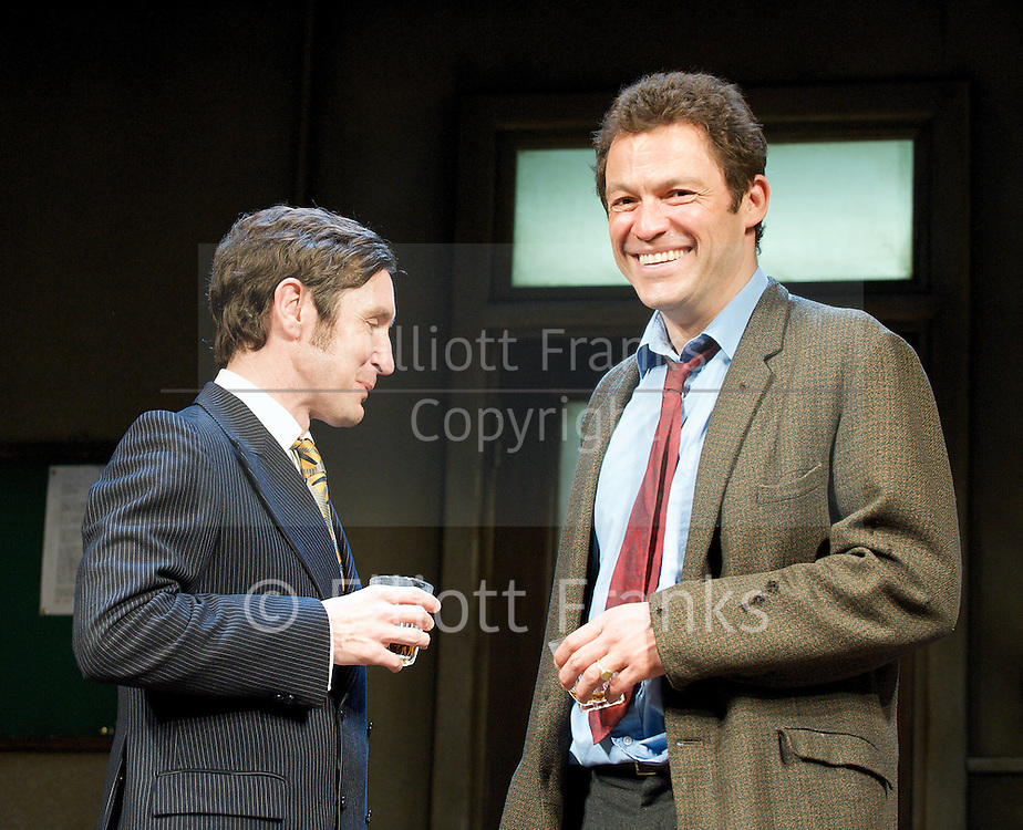 Butley.by Simon Gray <br /> at the Duchess Theatre, London, Great Britain <br /> Press photocall.3rd June 2011 <br /> <br /> Paul McGann (as Reg Nutall)<br /> Dominic West (as Ben Butley)<br /> <br /> Photograph by Elliott Franks