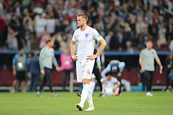 July 11, 2018 - Moscow, U.S. - MOSCOW, RUSSIA - JULY 11: Midfielder Eric Dier of England National team  at the end of  the semifinal match between Croatia and England at the FIFA World Cup on July 11, 2018 at the Luzhniki Stadium  in Moscow, Russia. .(Photo by Anatoliy Medved/Icon Sportswire) (Credit Image: © Anatoliy Medved/Icon SMI via ZUMA Press)