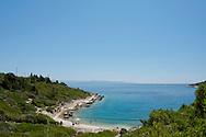 Balos Beach on the southeast coast of the Greek island of Paxos, The Ionian Islands,  The Greek Islands, Greece, Europe