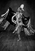 Nicole Gravatt, Diné/Sioux, fancy shawl dancer from Teesto, Ariz.