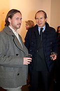 MARC NEWSON; SIMON DE PURY, 'Engagement' exhibition of work by Jennifer Rubell. Stephen Friedman Gallery. London. 7 February 2011. -DO NOT ARCHIVE-© Copyright Photograph by Dafydd Jones. 248 Clapham Rd. London SW9 0PZ. Tel 0207 820 0771. www.dafjones.com.