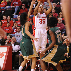 Jan 31, 2009; Piscataway, NJ, USA; Rutgers guard Brittany Ray (35) takes a shot during the first half of South Florida's 59-56 victory over Rutgers in NCAA women's college basketball at the Louis Brown Athletic Center