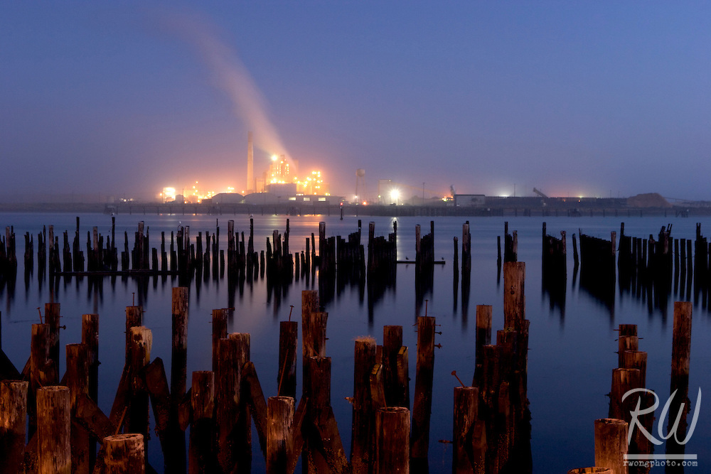 Samoa Pulp Mill and Humboldt Bay, Eureka, California