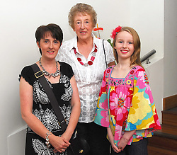 Pictured at the past Pupils reunion of Rossduane N.S. Kilmeena that took place in the Clew Bay Hotel recently were Kathleen Lacey with her daughter Mary and Grandaughter Georgia Aspinall...Pic Conor McKeown