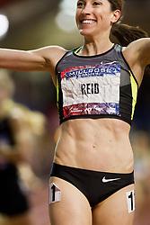 Millrose Games indoor track and field: women's mile, Sheila Reid , CAN, winner, Nike