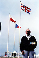 Bob Tackley, British D-Day veteran, in Courseulles in June 2004