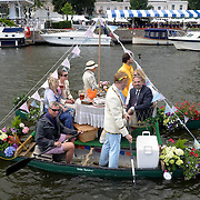 01.07.2016 Henley Royal Regatta on The River Thames at Henley UK<br /> Quarter - Finals Day Spectators along the course<br /> <br /> Media Event ID: 650567863