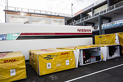 October 19, 2018 - Valencia, Spain - DHL Official founding and logistics partner of Formula E during the Formula E official pre-season test at Circuit Ricardo Tormo in Valencia on October 16, 17, 18 and 19, 2018. (Credit Image: © Xavier Bonilla/NurPhoto via ZUMA Press)