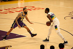 February 27, 2019 - Los Angeles, CA, U.S. - LOS ANGELES, CA - FEBRUARY 27: New Orleans Pelicans Center Julius Randle (30) being guarded Los Angeles Lakers Center Tyson Chandler (5) during the first half of the New Orleans Pelicans versus Los Angeles Lakers game on February 27, 2019, at Staples Center in Los Angeles, CA. (Photo by Icon Sportswire) (Credit Image: © Icon Sportswire/Icon SMI via ZUMA Press)