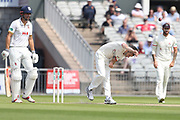 Graham Onions during the Specsavers County Champ Div 1 match between Lancashire County Cricket Club and Essex County Cricket Club at the Emirates, Old Trafford, Manchester, United Kingdom on 9 June 2018. Picture by George Franks.