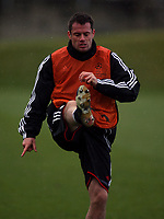 Photo: Paul Thomas.<br />Liverpool training session. UEFA Champions League. 05/03/2007.<br /><br />Jamie Carragher of Liverpool.