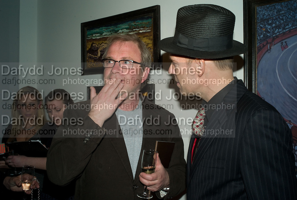 HARRY ENFIELD AND PAUL SIMONON, Paul Simonon  *** Local Caption *** -DO NOT ARCHIVE-© Copyright Photograph by Dafydd Jones. 248 Clapham Rd. London SW9 0PZ. Tel 0207 820 0771. www.dafjones.com.