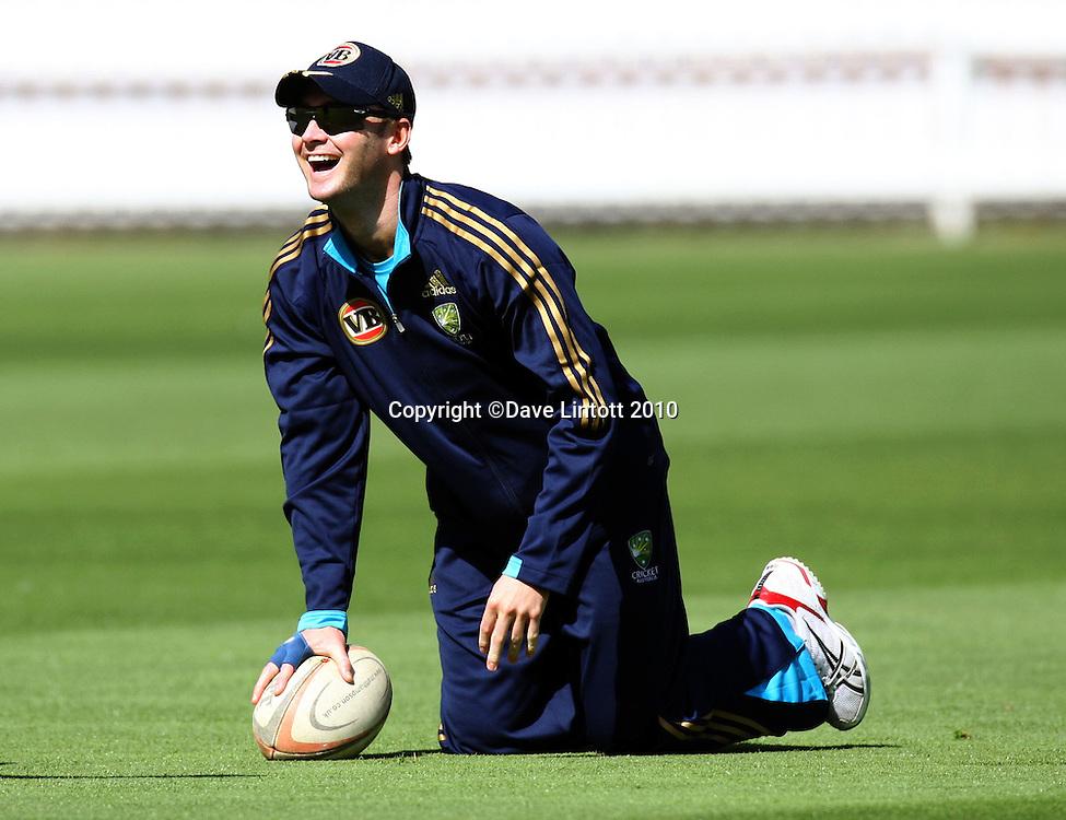 Michael Clarke.<br /> Australian cricket training at Allied Prime Basin Reserve, Wellington. Tuesday, 16 March 2010. Photo: Dave Lintott/PHOTOSPORT