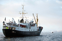 Whalewatching, Lofoten, Norway, Model release by photographer