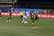 5/22/15- NYCFC midfielder K. Poku runs toward goal during a NYCFC home match played at Yankee Stadium in the south Bronx.