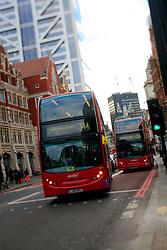 UK ENGLAND LONDON 8DEC13 - Double-decker bus in Hackney, east London.<br /> <br /> jre/Photo by Jiri Rezac<br /> <br /> © Jiri Rezac 2013