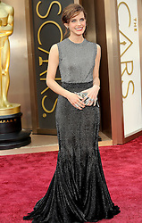 Emma Watson arriving to the 2014 Oscars at the Hollywood and Highland Center in Hollywood, California, USA,  Sunday, 2nd March 2014. Picture by Hollywood Bubbles / i-Images<br /> UK ONLY