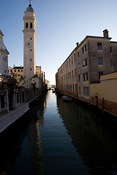 A rio / canal in Venice, Italy / Italia December 4, 2007.