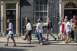 © Licensed to London News Pictures . 17/06/2017. London, UK. Victims and relatives of those affected by the Grenfell Tower fire in Kensington and community representatives leave 10 Downing Street after meeting the Prime Minister , Theresa May , for two and a half hours , this afternoon . Photo credit: Joel Goodman/LNP