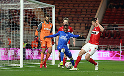 Siriki Dembele of Peterborough United challenges for the ball with Daniel Ayala of Middlesbrough - Mandatory by-line: Joe Dent/JMP - 05/01/2019 - FOOTBALL - Riverside Stadium - Middlesbrough, England - Middlesbrough v Peterborough United - Emirates FA Cup third round proper