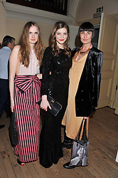 Left to right, ELINOR WEEDON, AMBER ANDERSON and ERIN O'CONNOR at the Vogue Festival 2012 in association with Vertu held at the Royal Geographical Society, London on 20th April 2012.
