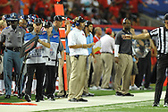 Ole Miss head coach Hugh Freeze vs. Boise State at the Georgia Dome in Atlanta, Ga. on Thursday, August 28, 2014. Ole Miss won 35-13.