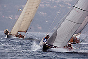 J Class Shamrock V racing at Regates Royales