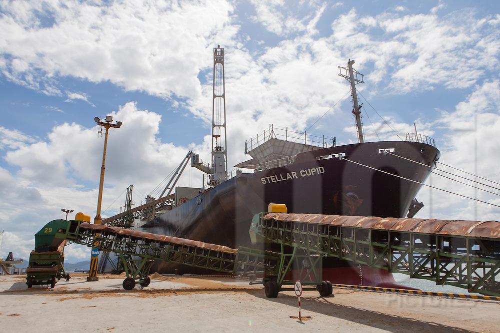 The vessel Stella Cupid is moored in Danang harbor. Vietnam, Asia