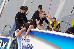 Torvar Mirsky and crew. Korea Match Cup 2010. World Match Racing Tour. Gyeonggi, Korea. 10th June 2010. Photo: Ian Roman/Subzero Images.