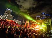 DETROIT – MAY 29: Pyramid stage during the Movement Electronic Music Festival Monday, May 29, 2017 at Hart Plaza in downtown Detroit. (Photo by Bryan Mitchell)